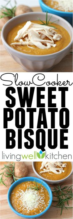 This filling, thick, and creamy Slow cooker Sweet Potato Bisque from @memeinge is savory with a hint of sweetness. This easy recipe makes a delicious soup perfect for lunch or dinner. Naturally gluten free and easily made vegan
