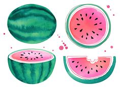 Margaret Berg Art : Illustration : summer / fruit fun