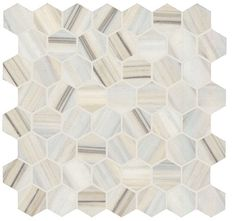 Specialty Tile Products Provenza Re-Use 1324E0R Bianco Ossigeno Hex Mosaic