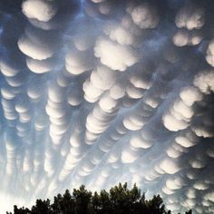 Amazing you do not often see clouds like this. These are mammatus clouds that formed over Regina, Canada June 16, 2012 shortly after a thunderstorm.