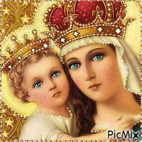 Most popular Picmix Jesus And Mary Pictures, Pictures Of Jesus Christ, Images Of Mary, Mary And Jesus, Love Images, Blessed Mother Mary, Blessed Virgin Mary, Gif Bonito, Virgin Mary Art