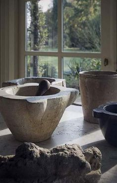 Mortar and Pestle, Stone Vessels,