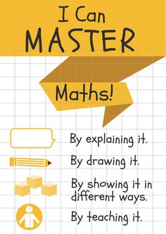 Maths Mastery Poster    #teaching #teachers