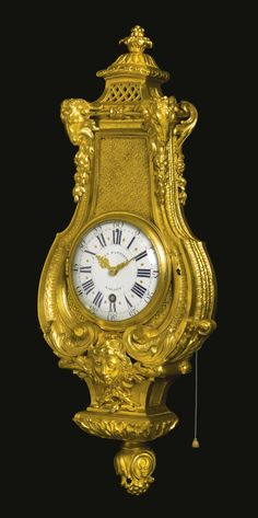 A Louis XIV ormolu cartel clock attributed to André-Charles Boulle circa 1710, the dial signed Jean Baptiste Baillon, the movement signed J. Bte. Baillon A Paris Sotheby's