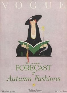 September 1917 - You'll Love These Illustrated Vintage 'Vogue' Covers - Photos