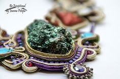 Magnifique grand artisanal Soutache collier par BeExceptional
