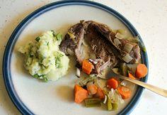 braised lamb shoulder blade chops parsnip potato mash braised slow ...