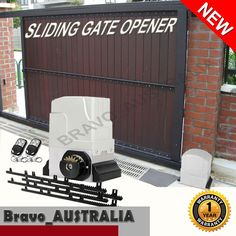 Automatic Electric Sliding Gate Opener - Max 1800kg with 2 Remotes 4m Rail Auto