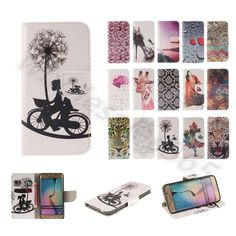 Premium PU Printed Leather Stand ID Card Case Cover For iPhone 6 6S Plus Sony #UnbrandedGeneric #CardPocketMoneySlotStandMagneticFlip