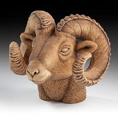 Leah Goddard used only five tools to carve this realistic bighorn ram bust.