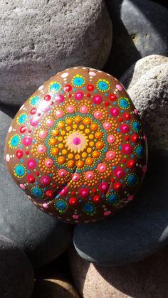 mandala painted stone , meditation,gratitude, spiritual, yoga, bohemian gypsy