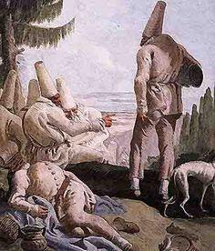 Domenico Tiepolo, La partenza di Pulcinella, Ca' Rezzonico