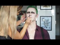 The Joker from Suicide Squad Hairstyle Tutorial + Makeup   Slick Back Hair - YouTube