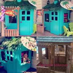 Playhouse makeover! Surf Shack - omg is this the cutest thing EVER?? some people are just so amazingly creative :)