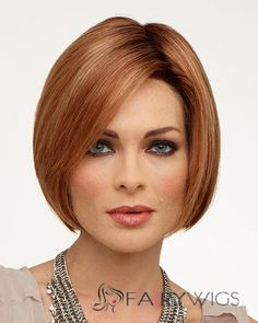 Top Quality Full Lace Short Straight Brown Remy Hair Wig