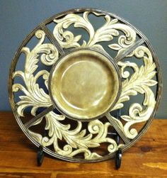 Sterling Industries Acanthus Charger with Stand