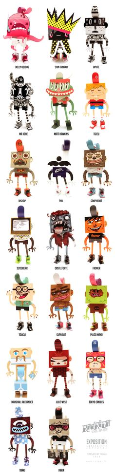 Paper Toys By: Guillaume Pain   Square Inch Design Blog