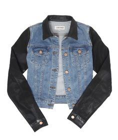 I love a jeans jacket ... and I love a little leather (J Brand).