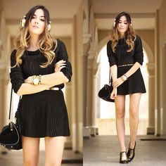 Get this look: http://lb.nu/look/7556624  More looks by Flávia Desgranges van der Linden: http://lb.nu/fashioncoolture  Items in this look:  Lez A Lez Skirt, Lez A Lez Top   #chic #classic #edgy