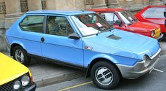 Car No.17. Fiat Strada. around 1974ish. I had the four door version in silver grey metallic, with the bigger engine 1600cc I think. Bought this because we wanted to get a caravan, and all the money we had was in the BMW. So sold the beemer and bought a caravan and this Strada, with the money. Worked well towing, but basically the car was bad!!!!!!