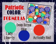 LilaLoa: How to make Patriotic Icing Colors