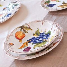 italian ceramic dinnerware Frutta by STILEITALIA on Etsy, €129.00