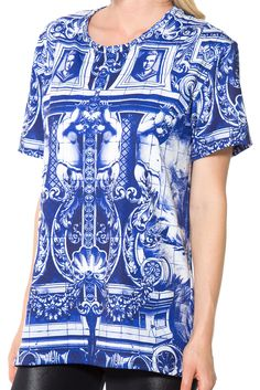 Blue Pillars LA Tee - LIMITED (US ONLY $50USD) by Black Milk Clothing