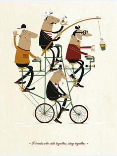 Quad Bike - Illustration created for Crack Magazine by Ben Steers