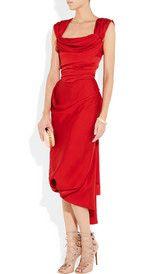 Vivienne Westwood Gold LabelBall Tie silk crepe de chine dress