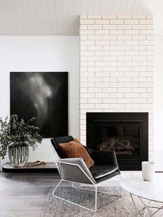 black/white fireplace