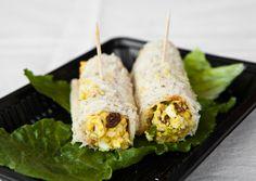 Healthy Shrimp Sandwich Wrap with Curry Yogurt & Spinach