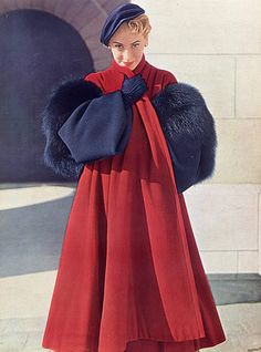 Christian Dior 1949 Winter Coat, Photo Pottier #EasyNip