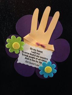 Daisy Girl Scout Promise Craft | Girl Scout promise magnet. Craft for daisies.