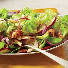 Brussels Sprouts Salad with Hot Bacon Dressing Recipe