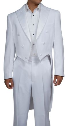 mens white tuxedo - Google Search  much excitement for marching band drum major uniforms