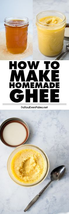 Making your own ghee is way easier than you might think. Find out how to make homemade ghee, a dairy free staple!   DoYouEvenPaleo.net