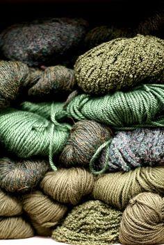 différentes nuances de vert