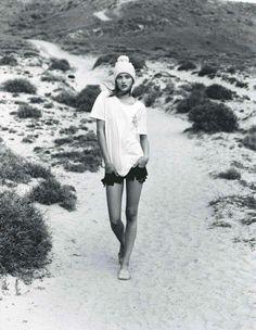 Vogue UK May 2012  Photographer: Alasdair McLellan,Stylist: Jane How,Model: Karmen Pedaru  Beach gear for the colder months...
