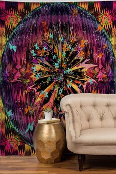a burst of color Small Tapestry, Colorful Tapestry, Dorm Tapestry, Tapestry Bedroom, Tapestry Wall Hanging, Wall Hangings, Bob Marley Tapestry, Hippy Bedroom, Cheap Wall Tapestries