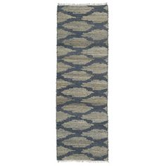 Handmade Natural Fiber Cayon Denim Lattice Rug (2'6 x 8'0) - Overstock™ Shopping - Great Deals on Runner Rugs