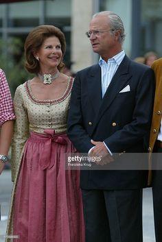 Königin Silvia Und König Carl Gustaf Von Schweden Beim Empfang Zum 60. Geburtstag Von Leopold V. Bayern Im Dorint Seehotel Rottach Egern Am Tegernsee