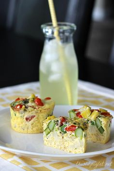 Veggie Egg Power Cups | Enough fiber and protein to hold you through to late lunch. Recipe: http://thislilpiglet.net/2014/05/veggie-egg-power-cups/
