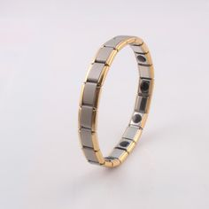 wholesale 2016 gold jewelry Germanium bracelet for men Power h Bracelet Balance Stainless steel man charm bracelets bangles