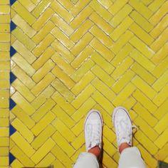 Bejmat ! Lonny editorial coordinator @meymey_sjsat the Mosaic House tile shop in New York.