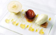 assiette of apple #2  William Drabble's assiette of apple recipe is simply sublime. The award-winning chef creates a wondrous dish which uses the apple to make a jelly, sorbet, tarte tatin and mousse