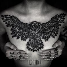 Tattoo studio, lion chest tattoo, owl tattoo back, chest piece tattoos Owl Tattoo Back, Lion Chest Tattoo, Owl Tattoo Small, Chest Piece Tattoos, Pieces Tattoo, Small Tattoos, Tattoo Owl, Great Tattoos, Trendy Tattoos