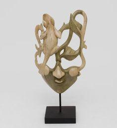 """Маска """"Ящерица"""", арт. 402808 Размер: 35см Материал:дерево Производство:Индонезия"""
