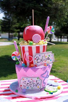 "My Girls Birthday Cake 2011  ""Carnival Theme"""