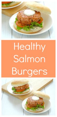 Healthy Salmon Burger Recipe | This clean eating healthy salmon burger is delicious! It's just as yummy and juicy as an ordinary burger, but so much lighter and better for you. It doesn't leave you feeling heavy or bloated and always goes down well at BBQs and picnics! via @happyhealthymotivated