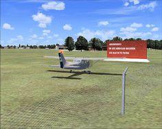 Recreación en 3D del antiguo cartel del Aeroclub Argentino Ciudad de Gregorio de Laferrere